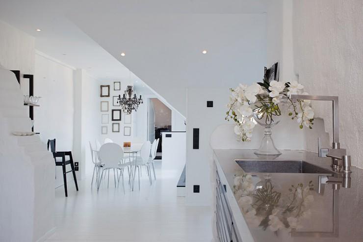 stockholm penthouse white interiors