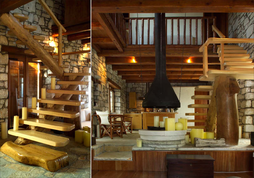 Awesome Traditional Stone House interiors In Pelion Greece