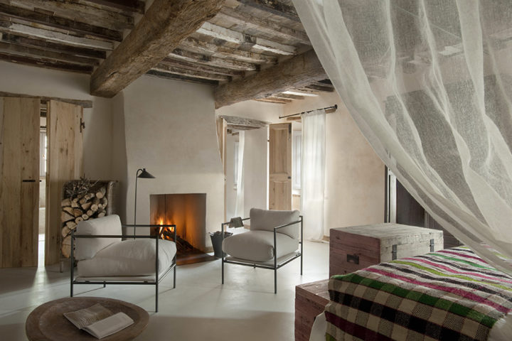 tuscan style in fireplace