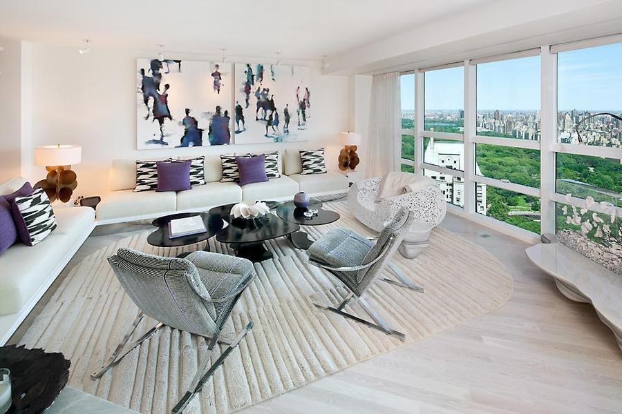 Ultra modern interior design by robert couturier decoholic for Apartment overlooking central park