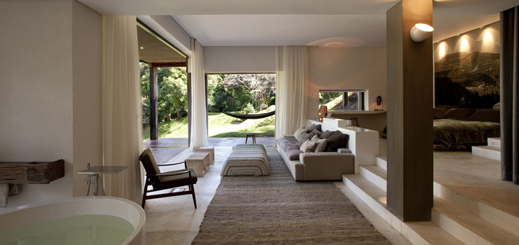 living room-bedroom by Silvio Rech and Lesley Carstens Architects