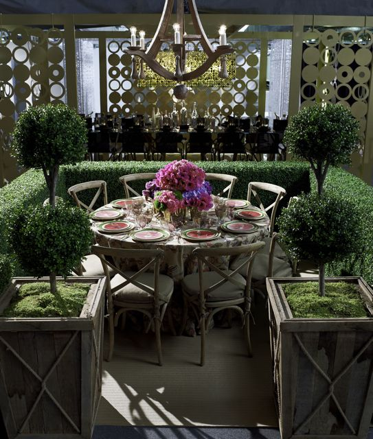 The Architectural Digest outdoor dining table