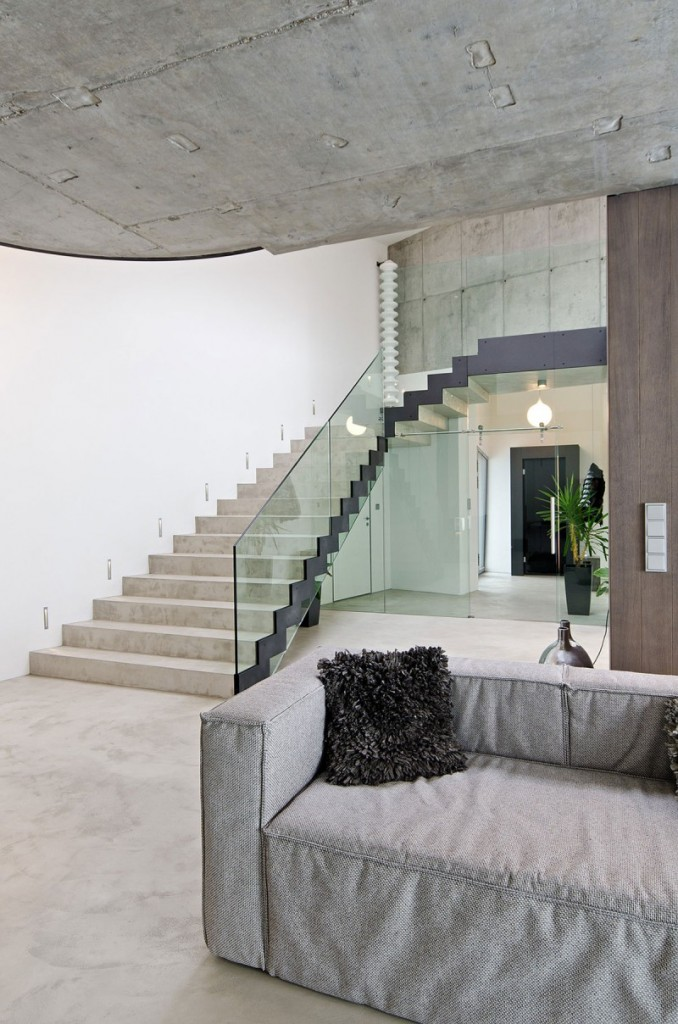 contemporary concrete home interiors by ooox4