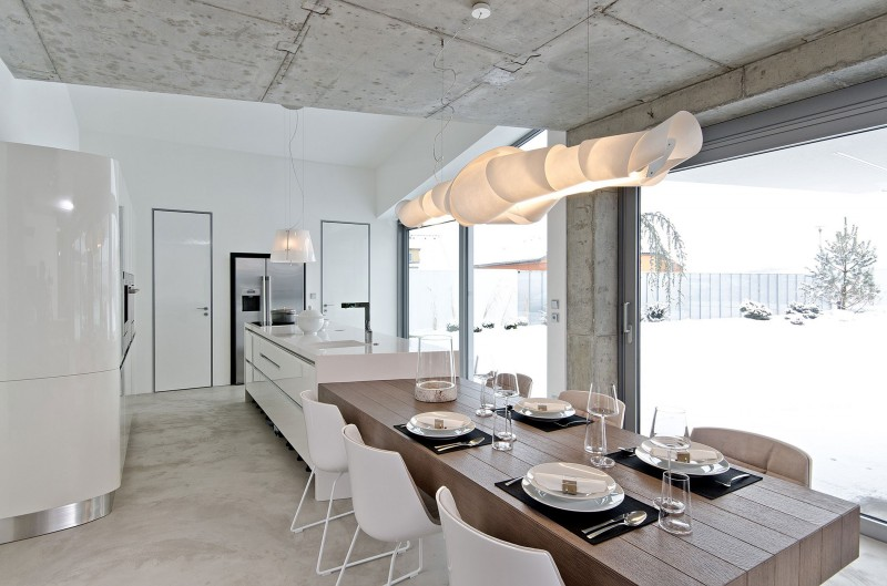 Contemporary Concrete Home Interiors By Ooox5