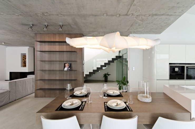 contemporary concrete home interiors by ooox