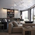 contemporary living room Vladimir Bolotkin