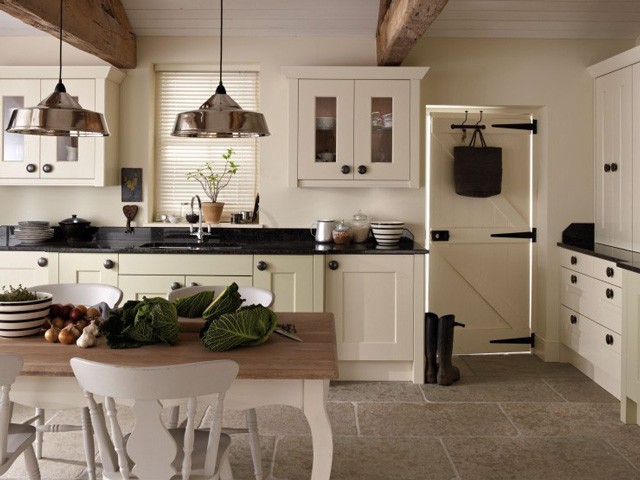 cream traditional kitchen