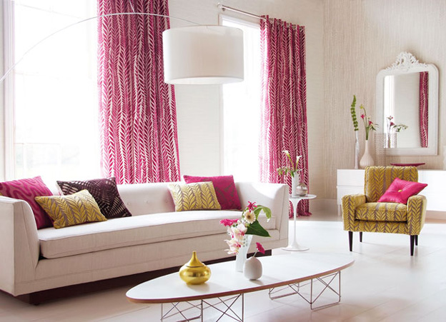 Pink And Green Living Room. 12 adult ways to decorate with the color ...