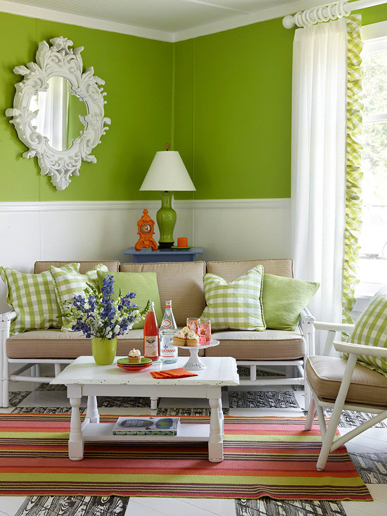 Living Room Design Green: 26 Relaxing Green Living Room Ideas