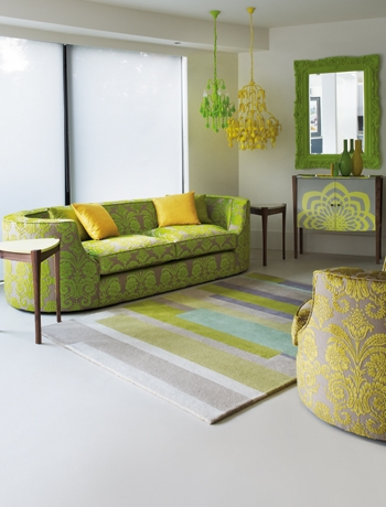 Green Lime And Yellow Living Room 18