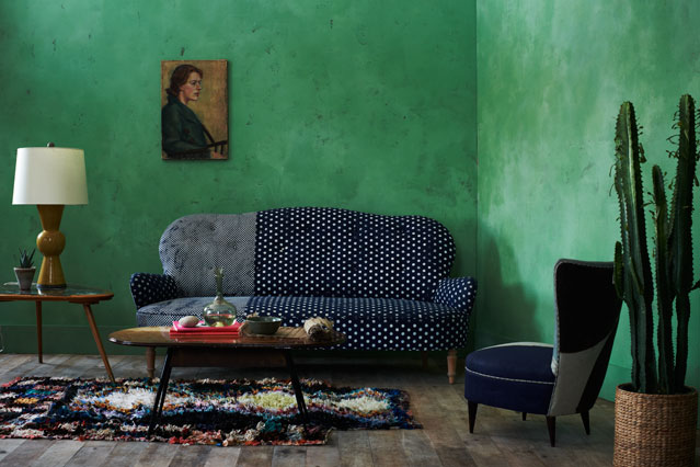 green and blue living room 23