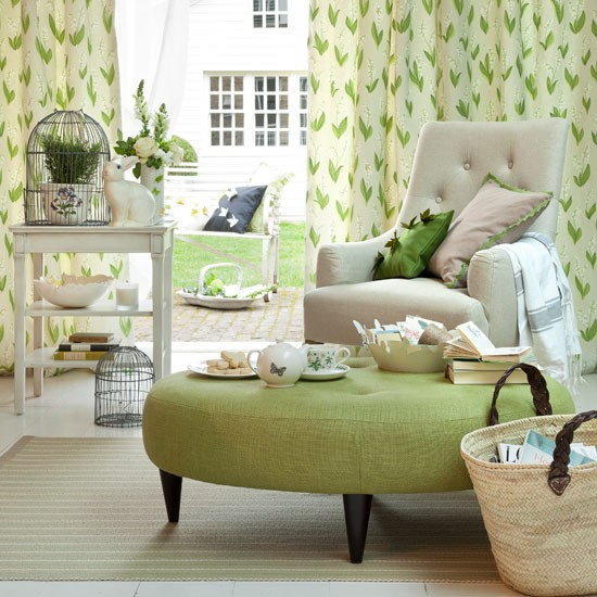 fresh green living room 6