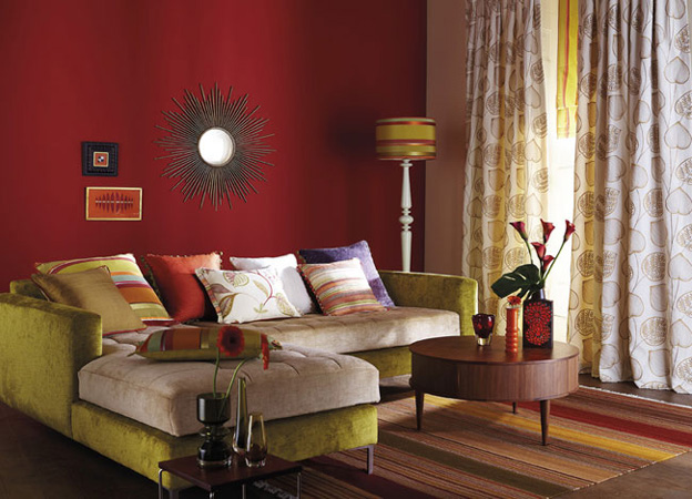 Green Red Living Room By Harlequin