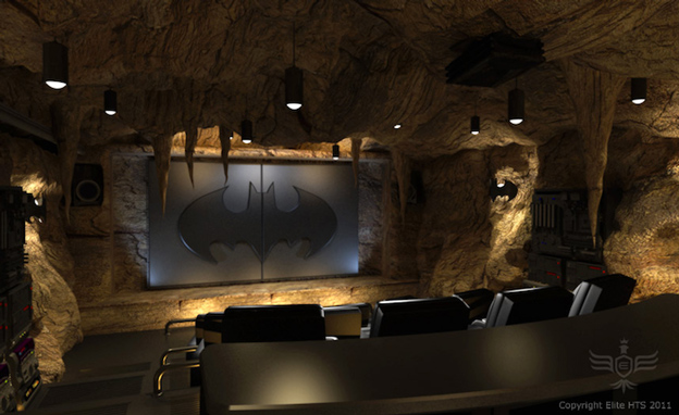 cave batman home theater room