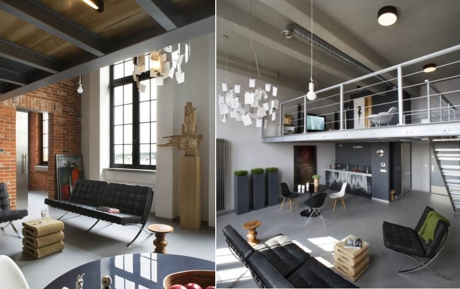 Modern industrial loft in poland decoholic for Interior design inspiration industrial