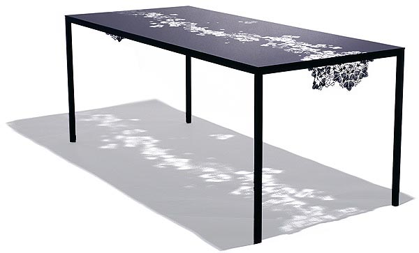 lace inspired black anemone table