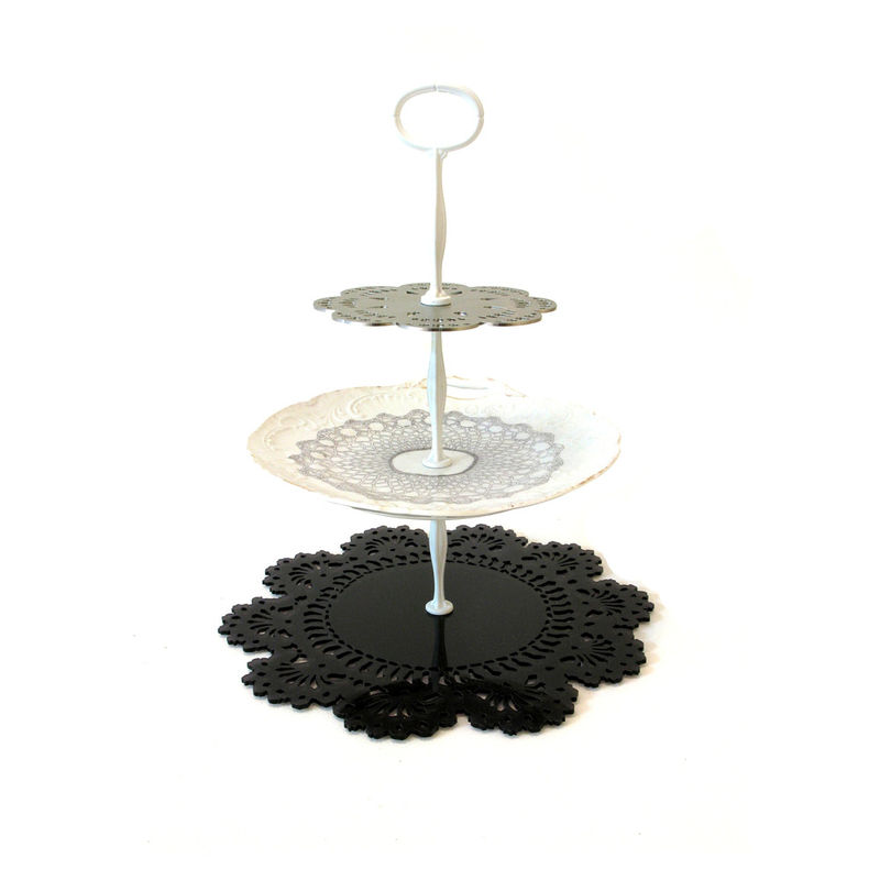 lace modern eclectic cake  stand by Imogen Luddy