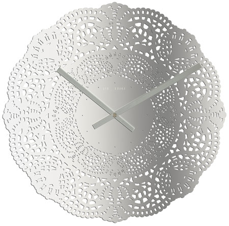 contemporary lace wall clock