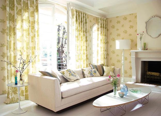 Living Room With Harlequin Amaranta Fabrics