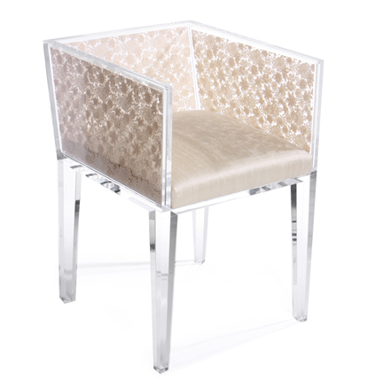 old lace inspired natural  florar lace chair