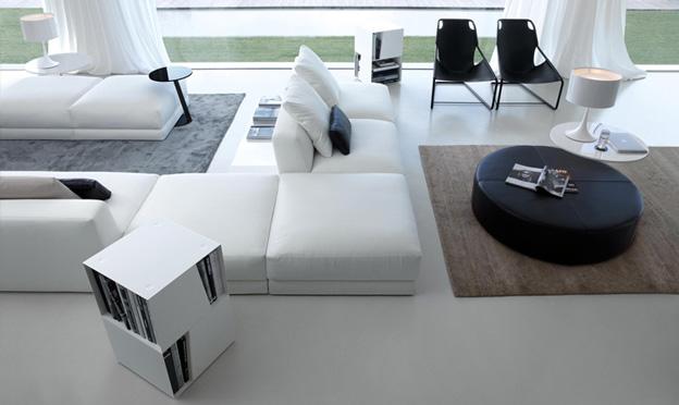 pasha 2 corner white contemporary sofa