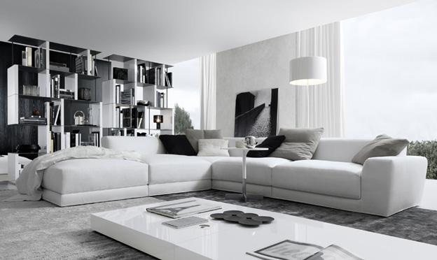 pasha corner white contemporary sofa