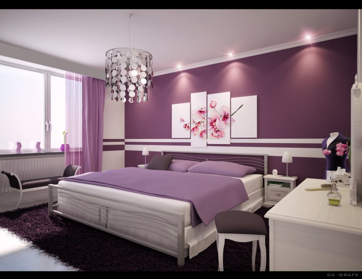purple bedroom 14 ideas