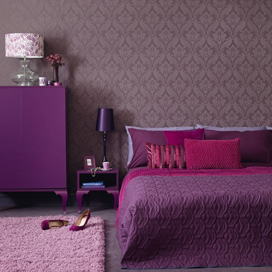 and sophisticated connotations of purple make it perfect for a bedroom ...