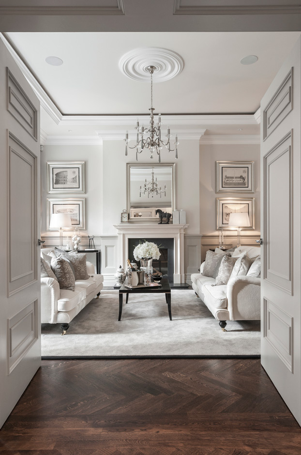 Elegant Monotone Living Room Designed By Alexander James Interior
