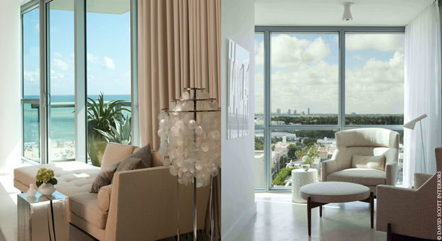 Miami Beach House  Houses: Incredible Apartment on Miami Beach Miami 11 Beach Oceanfront house david scott interiors
