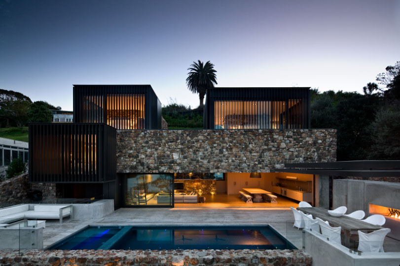 Contemporary stone house that rocks decoholic Modern stone house