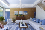 contemporary blue and white living room by apd architects