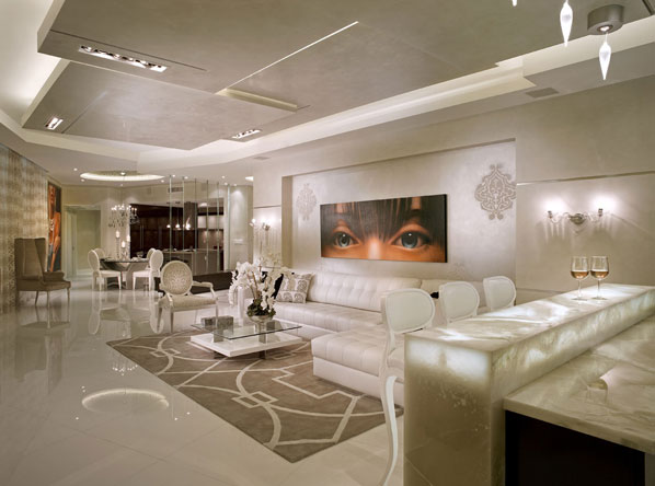 Elegant Contemporay Interior With A Cream Off White Color Pallete Decoholic
