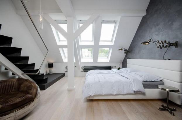 gray attic loft by ooox 3