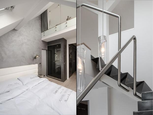 gray attic loft by ooox5
