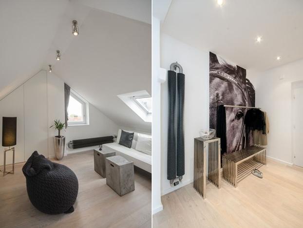 gray attic loft by ooox7