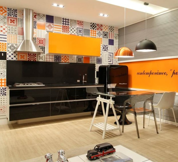 Kitchen design ideas with retro refrigerators that steal the show decoholic - Kitchen design expo ...