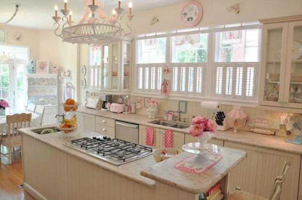 romantic vintage kitchen