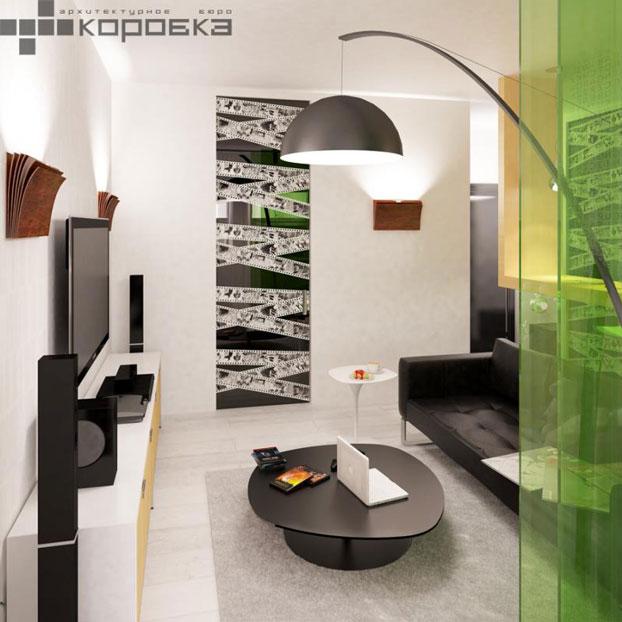 small apartment interior by abkorobka 5