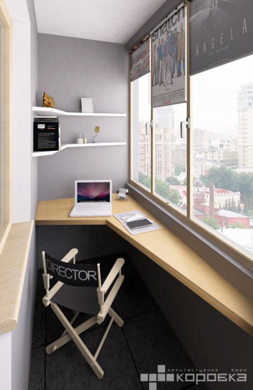 Modern black and white studio apartment with a touch of for Studio apartment office