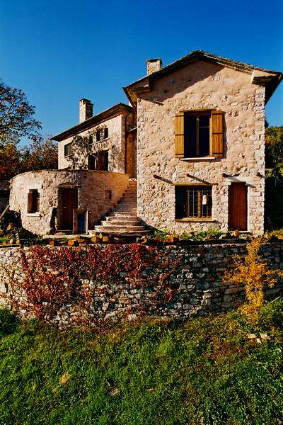traditional stone home interiors by philippitzis13