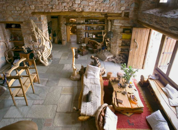 traditional stone home interiors by philippitzis3