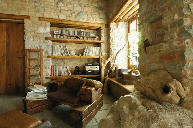 Traditional Stone Home Interiors By Philippitzis5