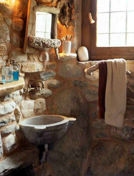 traditional stone home interiors by philippitzis7