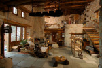 traditional stone home interiors by philippitzis