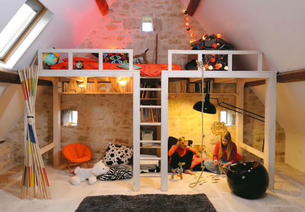 Awesome Attic Loft Kids' Bedroom