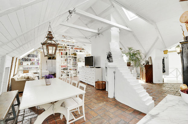 Gorgeous White Attic Penthouse 2