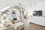 Gorgeous White Attic Penthouse