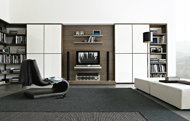 contemporary wall unit-library poliform10