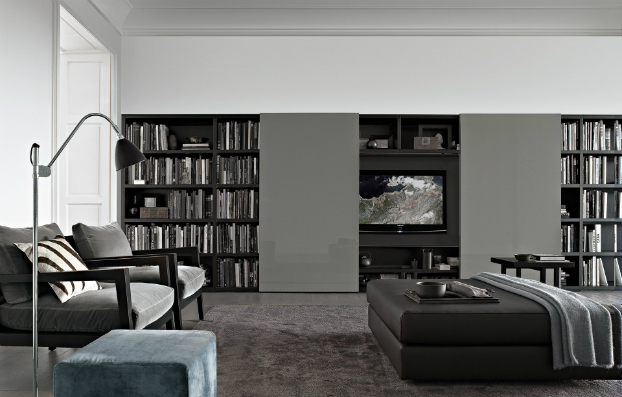 contemporary wall unit-library poliform11